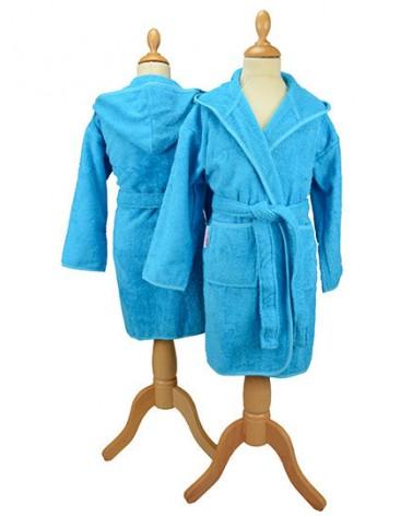 Peignoir enfant à capuche 400 g/m² Bleu Aqua