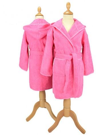 Peignoir enfant à capuche 400 g/m² Pink