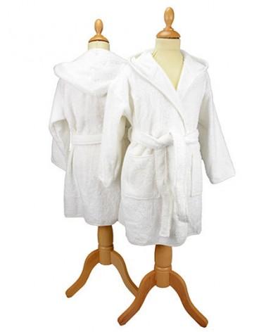 Peignoir enfant à capuche 400 g/m² Blanc