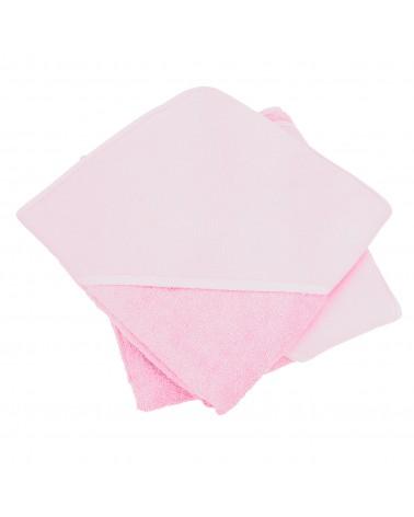 Cap de bain  Light Pink pour bébé 100 x 100 cm