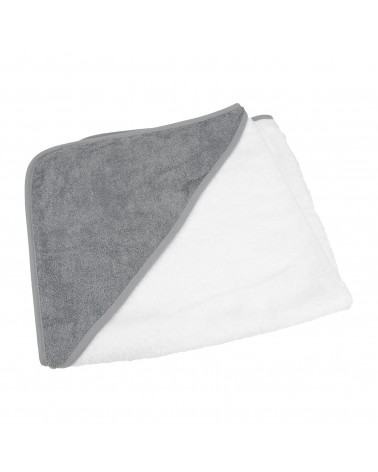 Cap de bain pour bébé 75 x 75 cm White/Anthracite Grey