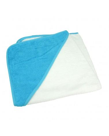 Cap de bain pour bébé 75 x 75 cm White/Aqua Blue