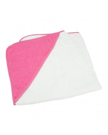 Cap de bain pour bébé 75 x 75 cm White/Pink