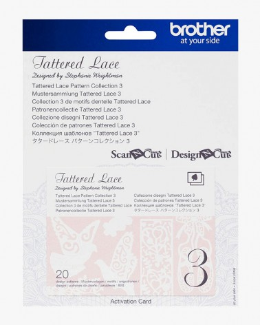 Collection n° 3 de motifs dentelle Tattered Lace ScanNCut CATTLP03