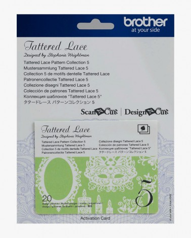 Collection n° 5 de motifs dentelle Tattered Lace Brother ScanNCut CATTLP05
