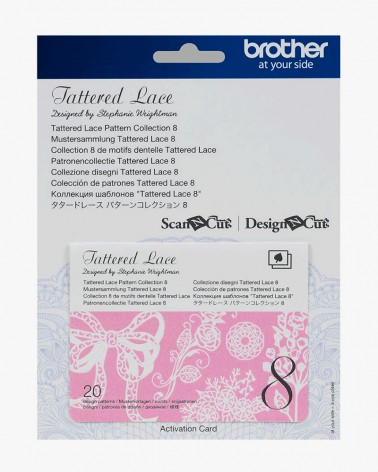 Collection n° 8 de motifs dentelle Tattered Lace ScanNCut CATTLP08