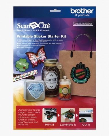 Kit de démarrage d'autocollants imprimables CAPSKIT1 pour ScanNCut