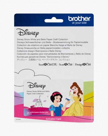 Collection de créations en papier Blanche Neige et Belle de Disney CADSNP06