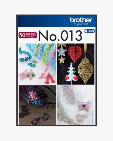 Collection de motifs de broderie n° 13 BLECUSB13
